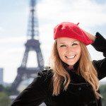 Smiling girl in Paris