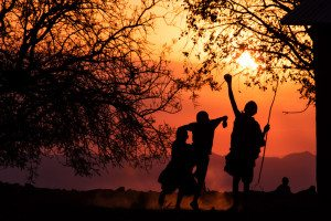 Maasai Kids Silhouette 2016 Africa photography workshop landscapes and people