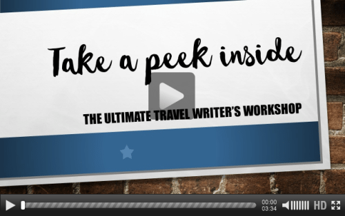 Take a Peek Inside the Ultimate Travel Writer's Workshop