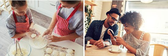 Examples of stock photos with an authentic style