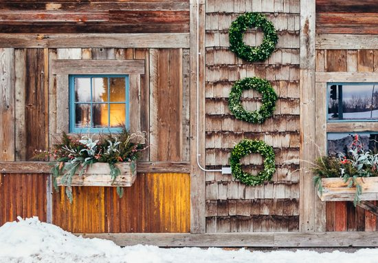 three round wreaths for stock photography