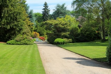 Stock photography of a path in a garden
