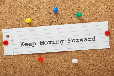 Keep moving forward with stock photography