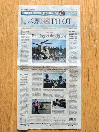 Photos in newspaper stock photo success