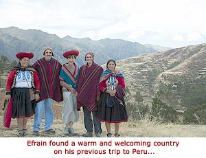 Efrain found Peru - a warm and welcoming country