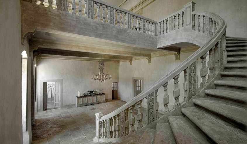 Stock photo of an old staircase