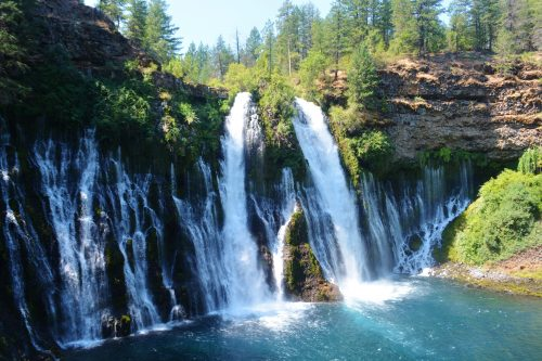 Travel writer Noreen Kompanik got this shot of Burney Falls on one of her favorite press trips