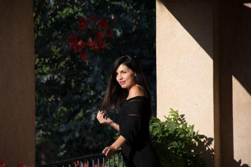 stock photo model in Provence