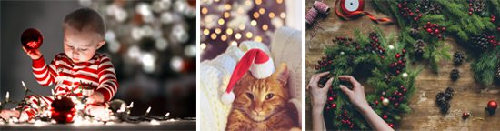 Examples of holiday themed stock photography