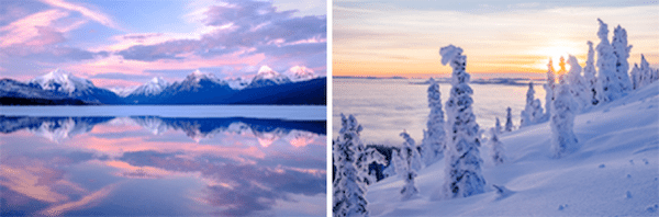 Challenge yourself to get out and play with winter photography themes