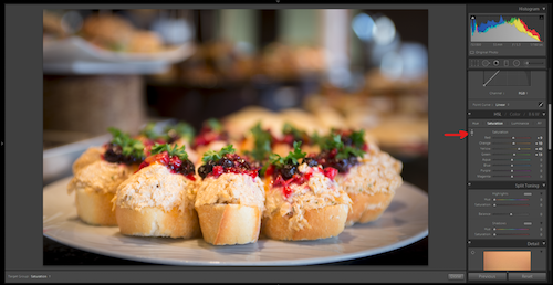 Lightroom can help you transform your snapshots into saleable food images