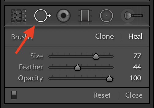 How to save a photo with Lightroom's spot removal tool...