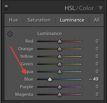 How to restore a dull sky to a blue sky in Lightroom...