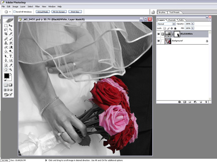 Photoshop: Spot Coloring Black and White Photos